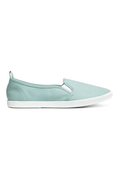 Slip on-sneakers i canvas - Mintgrön - Ladies | H&M FI 1
